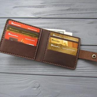 Кожаное мужское портмоне ALONZO _темный шоколад_450