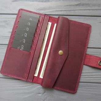 Кожаный женский кошелёк MILANA_марсала_550