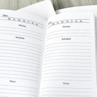 Сменные тетради к блокноту Midori - Ежедневный план 2