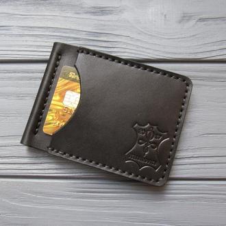 Зажим для денег из натуральной кожи STEFAN_черный_01_320