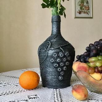 Авторская ваза ручной работы «Виноград».