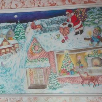 Санта на крыше