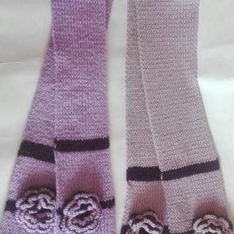 Детский шарф с розой