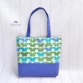 Текстильная сумка Бабочки
