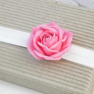Повязка для малышки с розой