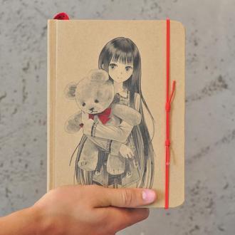 Блокнот с чистыми страницами, скетчбук, подарок для девочки