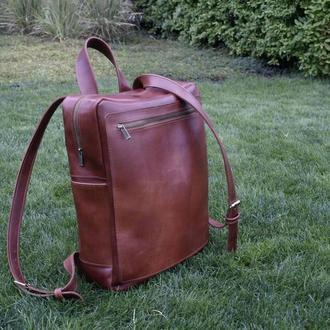 Кожаный мужской рюкзак из Crazy Horse