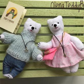 Миниатюрные плюшевые медведи