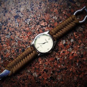 """Браслет из паракорда """"Косичка"""" для наручных часов (на заказ)"""