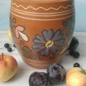 Бочонок, емкость для круп, сахара, гончарная керамика