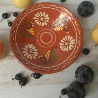 Блюдце, гончарная керамика