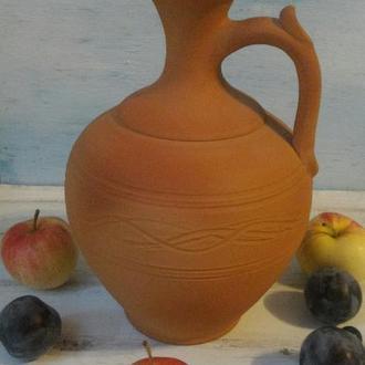 Тыква, сосуд для вина, спитрных напитков, графин, гончарная керамика