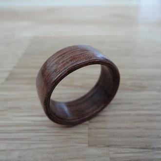 Мужское кольцо ручной работы из красного дерева Махагон 21 размера