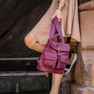 """Кожаный рюкзак """"Бэйби боббер"""""""