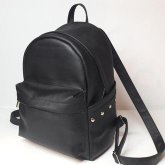 Дизайнерський женский чёрный рюкзак