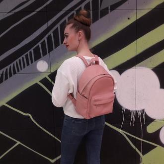 Модный женский пудровый рюкзак