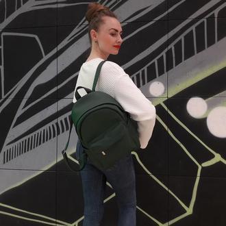 Красивый женский зеленый рюкзак
