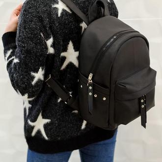 Очень красивый женский чёрный рюкзак
