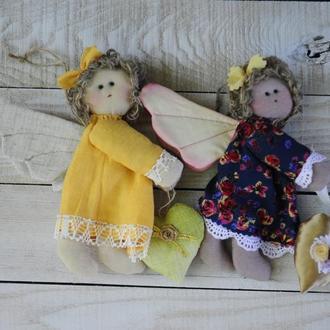 """Кукла тильда """"Ангел-кудряшка"""""""