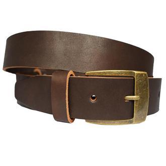 Mister-X пояс коричневый под джинсы натуральная кожа ремень кожанный ремінь
