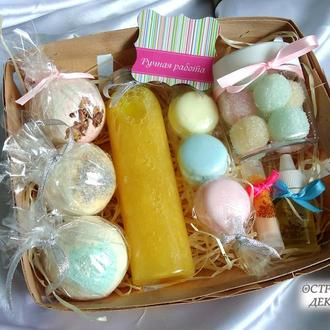 Подарочный набор натуральной косметики «Вкусное насторение», подарок на день рождения