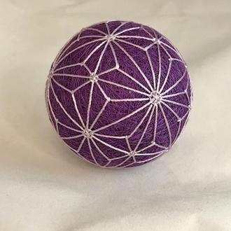 Шар Темари  фиолетовый