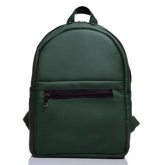 Модный красивый женский рюкзак зеленый