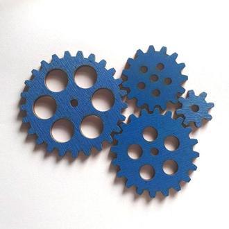 Заготовки для Бизиборда Набор шестеренок Синий
