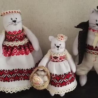Котики для интерьера ручной работы из фетра