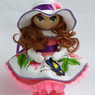 Интерьерная Кукла (кукла вязаная крючком)