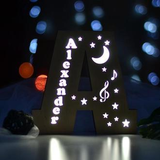 Светильник-буква с именем Alexander