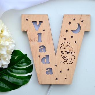 Светильник-буква с именем Vlada