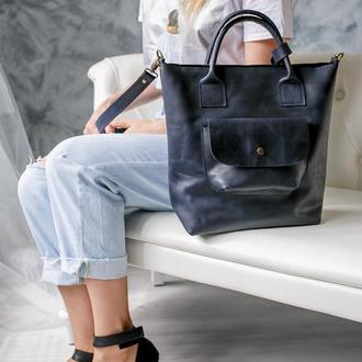 Кожаная сумка женская для ноутбука сумка большая из натуральной кожи