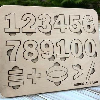 Деревянный сортер-цифры