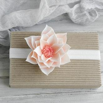 Повязка детская Лотос, повязка для малышки с цветком