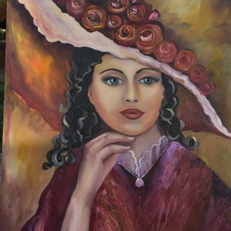 """Картина маслом """"Старинный портрет"""""""
