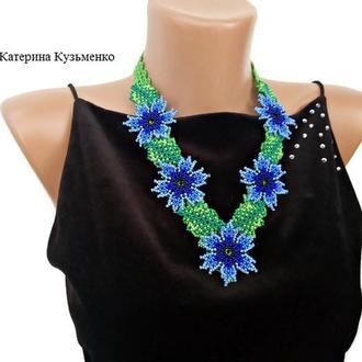 Колье ′Васильки′