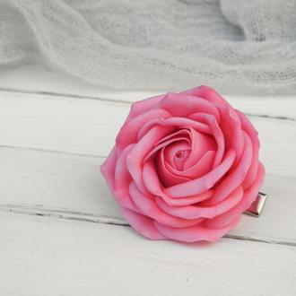 Заколка Роза пышная