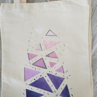 Еко сумка геометрія