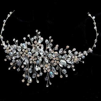 Свадебное украшение для волос, веточка в прическу, украшение в прическу невесте