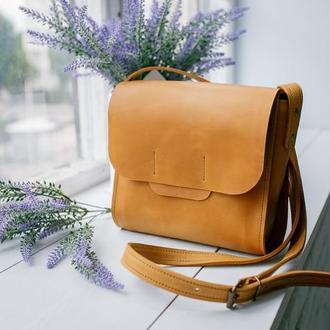 Сумка зі шкіри NewBox модна практична сумка через плече з натуральної шкіри
