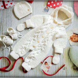 Комбенизон для новорожденного,набор для выписки,набор для крестин