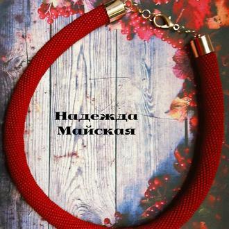 Жгут-колье Багровый пик