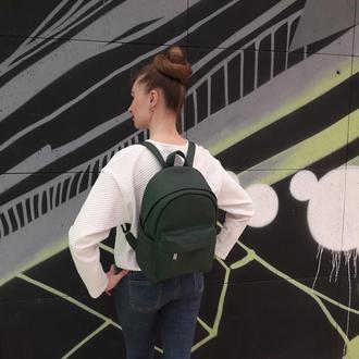 Классный женский рюкзак зеленый