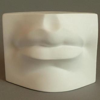 Гипсовая модель Губы Давида для рисунка в классе ИЗО, 16х12х9 см