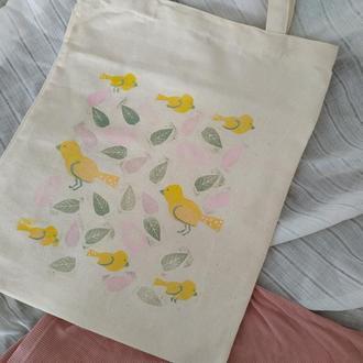 Еко сумка ніжні птахи
