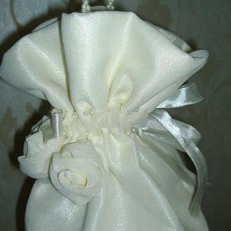 Сумочка невесты ручной работы