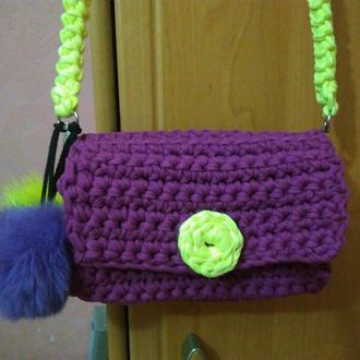 Вязанная сумка кроссбоди из трикотажной пряжи Bobbilon