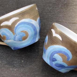 """Чашка керамічна """"Морські хвилі"""""""