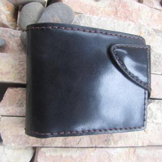 кошелёк мужской кожаный черный